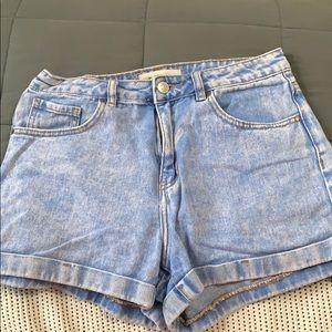 pacsun acid washed mom shorts